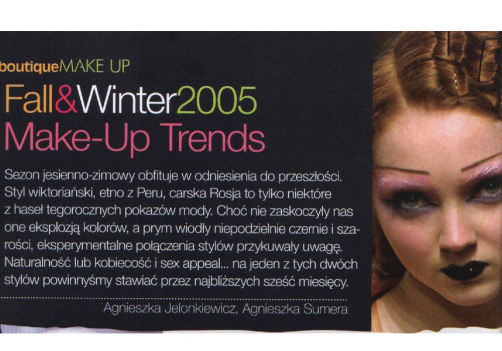 makijaż jesień zima