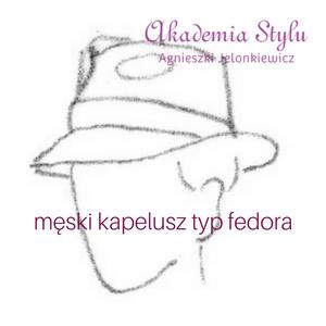 męski kapelusz fedora
