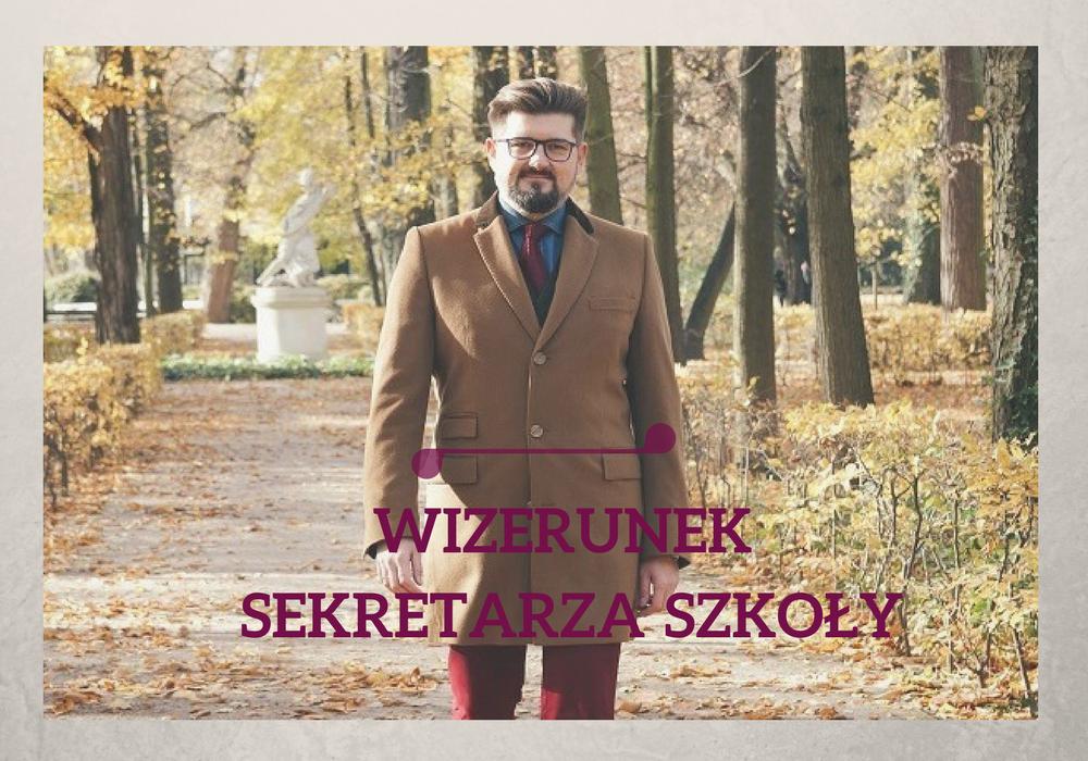 wizerunek sekretarza szkoły