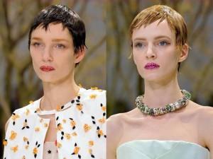 uczesanie na wiosnę Dior