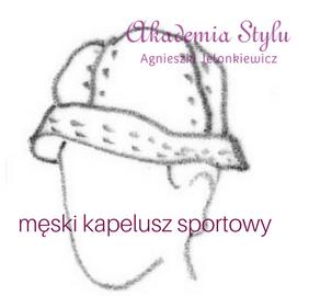 męski kapelusz sportowy