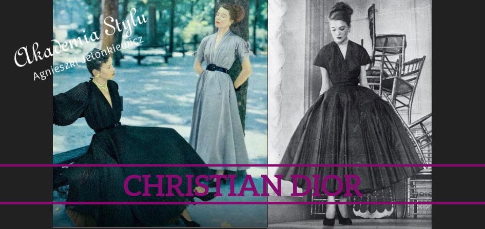 Christian Dior moda lat 50